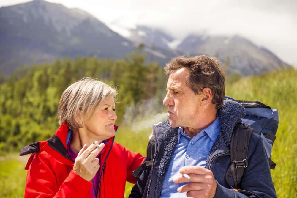 elderly couple smoking aging iq news