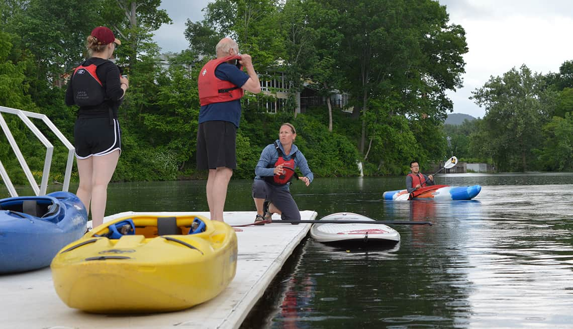 senior citizen kayaking camp