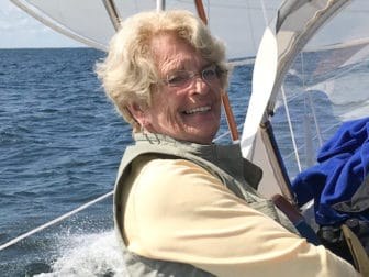 Beverly Blietz on a boat