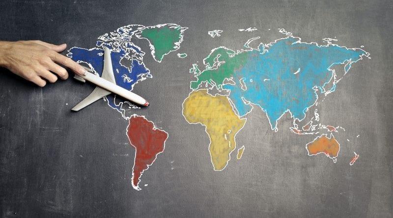(credit Andrea Piacquadio) Map Plane Colorful