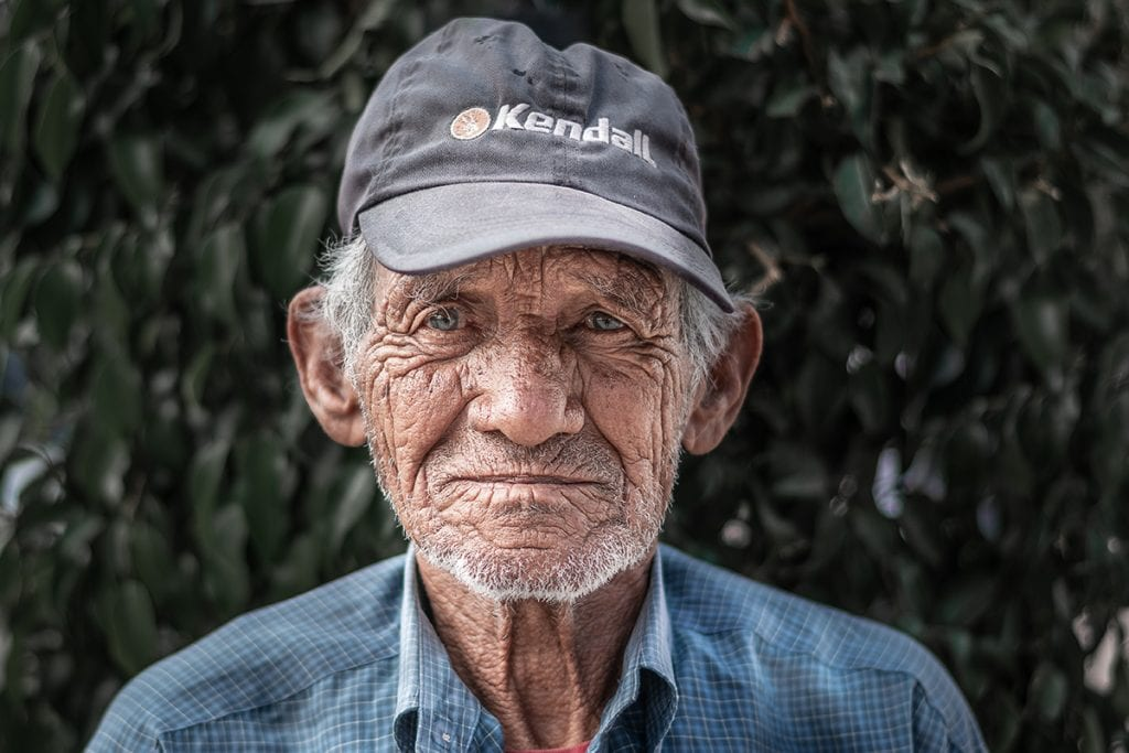 Credit Juan Mendez Old man with wrinkles