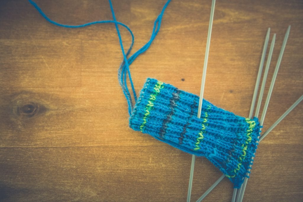 (Credit Markus Spiske) Knitting Needles and Blue Yarn