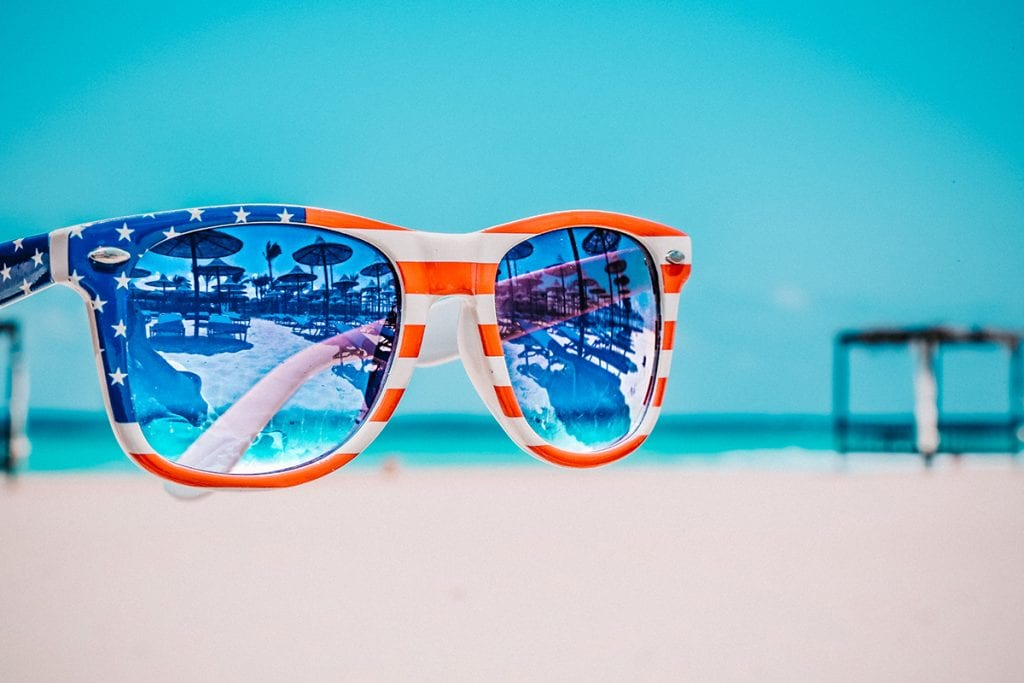 Credit Oleg Magni Patriotic Sunglasses Beach