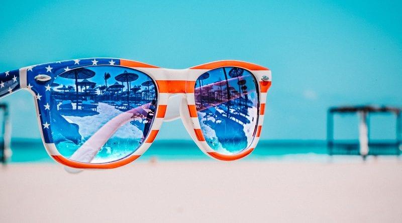Credit Oleg Magni Patriotic Sunglasses Beach
