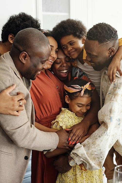 (credit august de richelieu) happy african american family